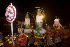 INDONESIEN SOM ÖPPNAR TURISMSYSSELSÄTTNINGSTILLFÄLLEN Royaltyfri Foto