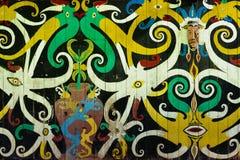Indonesien - Stammes- Kultur des traditionellen Dayak Stockbild