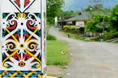 Indonesien - Stammes- Kultur des traditionellen Dayak Stockfotos