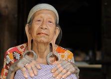 Indonesien - Stammes- Kultur des traditionellen Dayak, Borneo Stockfotografie