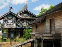 Indonesien - Stammes- Kultur des traditionellen Dayak, Borneo Stockfoto