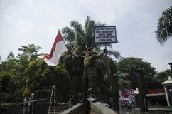 INDONESIEN STARKAST ARMÉMAN Arkivbild