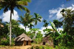 Indonesien, Timor, Hauptjägerdorf Stockbild
