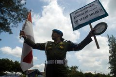 INDONESIEN TNI YRKESMÄSSIGHET arkivfoton