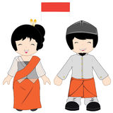 Indonesien-traditionelles Kostüm Lizenzfreies Stockbild