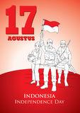 INDONESIEN-UNABHÄNGIGKEITSTAG Stockbild