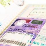 Indonesien-Visum lizenzfreie stockfotos