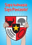 Indonesier Pancasila-Tag Stockbild