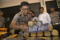 INDONESISCH DOODVONNIS OP MARIHUANAverkoop Royalty-vrije Stock Foto