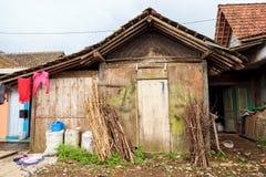 Indonesisch lokaal oud inheems huisdorp Stock Afbeelding