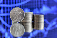 500 Indonesisch Roepiemuntstuk Royalty-vrije Stock Afbeelding