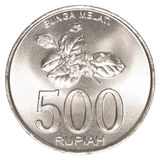 500 Indonesisch Roepiemuntstuk Stock Afbeelding