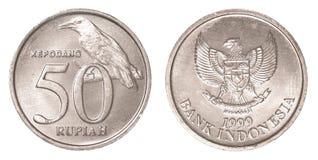 50 Indonesisch Roepiemuntstuk Royalty-vrije Stock Fotografie