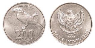 200 Indonesisch Roepiemuntstuk Royalty-vrije Stock Fotografie