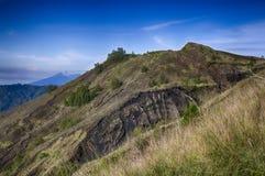 Indonesische bergen, het Eiland van Bali, de Actieve vulkaan van Batur Royalty-vrije Stock Fotografie