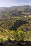 Indonesische bergen, het Eiland van Bali, de Actieve vulkaan van Batur Stock Fotografie