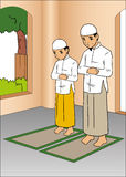 Indonesische betende Leute Lizenzfreies Stockbild