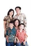 Indonesische Familie Royalty-vrije Stock Foto