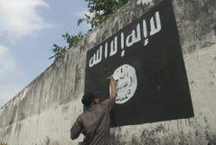 INDONESISCHE INTELLIGENZ, EXTREMISTENGRUPPE AUF FRAGEN DES ISLAMISCHEN STAATS AUFZUPASSEN Stockbilder