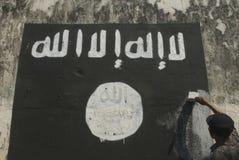 INDONESISCHE INTELLIGENZ, EXTREMISTENGRUPPE AUF FRAGEN DES ISLAMISCHEN STAATS AUFZUPASSEN Stockfotos