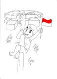 Indonesische jong geitje het vieren onafhankelijkheidsdag Royalty-vrije Stock Fotografie