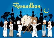 Indonesische Jonge geitjes Moslim Royalty-vrije Stock Foto's