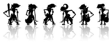 Indonesische Marionetten stock afbeeldingen