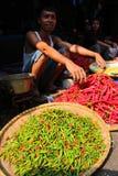 Indonesische markt Royalty-vrije Stock Afbeeldingen