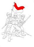 Indonesische Militair bij oorlog Royalty-vrije Stock Foto's