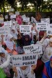 INDONESISCHE MOSLEMISCHE KÖRPER FÜR TODESstrafe ZU DEN DROGENHÄNDLERN Lizenzfreies Stockfoto