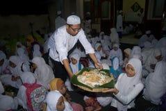 INDONESISCHE MOSLIMorganismen VOOR DOODSTRAF AAN DRUGDEALERS Royalty-vrije Stock Fotografie