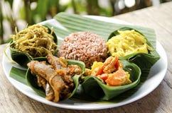 Indonesische Nahrung in Bali Stockfotografie