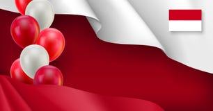 Indonesische patriotische Fahne mit Raum Stockfoto