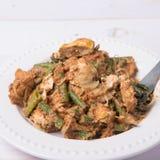 Indonesische Plantaardige salade of pecel met een laag bedekt met zoete & smakelijke pindakaas sauc Stock Foto's