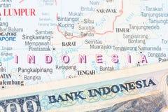 Indonesische Rupie stockfoto