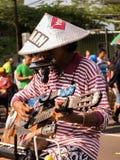 Indonesische straatmusicus Royalty-vrije Stock Foto's