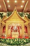 Indonesische traditionelle Hochzeits-Dekoration Stockbilder