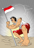 Indonesischer Held Lizenzfreies Stockfoto
