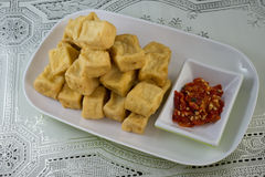 Indonesischer Tofu Stockfoto