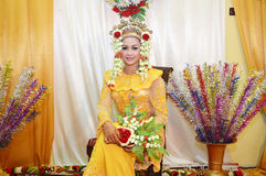 Indonesisches Braut Lizenzfreie Stockfotos