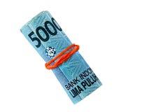 Indonesisches Geld, die Rupie Lizenzfreies Stockfoto