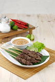 Indonesisches Satay Stockbild