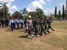 Indonesisk armé Arkivfoto