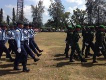 Indonesisk armé Fotografering för Bildbyråer