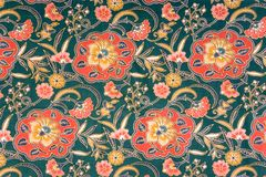 Indonesisk batik Arkivbild
