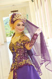 Indonesisk brud Arkivbild