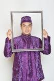 Indonesisk brudgum Arkivbild