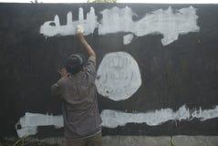 INDONESISK INTELLIGENS ATT HÅLLA ÖGONEN PÅ DEN EXTREMISTISKA GRUPPEN PÅ ISLAMISK STATFRÅGOR Arkivfoton
