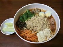Indonesisk kryddig mat Arkivfoto