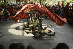 INDONESISK NATIONELL IDENTITET FÖR KINESISK NEDSTIGNING arkivfoto